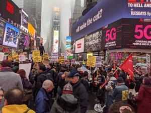 Times Meydanı'nda 'İran' protestosu