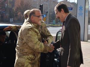 Tümgeneral Hacıoğlu, Başkan Bulutlar'ı ziyaret etti