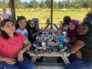 Uluslararası öğrenciler piknikte buluştu