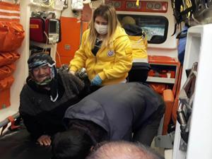 Yaşlı kadını AFAD ve jandarma ekipleri buldu