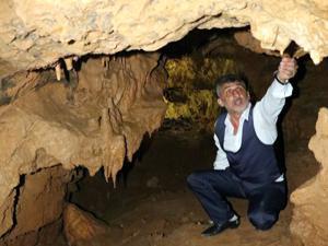 Zonguldak'ta heyelan, mağarayı ortaya çıkardı