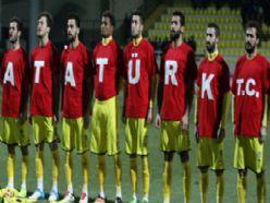 Bucaspor kupa maçına 'Atatürk T.C.' tişörtü ile çıktı