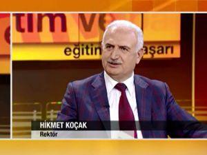 Rektör Koçak, CNN Türk'ün konuğu oldu