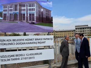 Palandöken Belediyesi hizmet binası inşaatı hızla yükseliyor