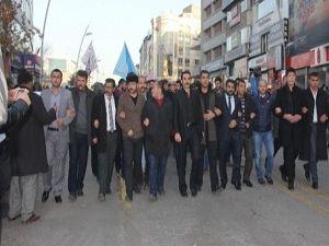 Ülkü Ocakları Türkmen Dağı'nda yaşanan katliamı protesto etti