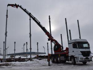 Fuar merkezi inşaatı kışa rağmen devam ediyor