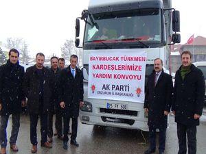 AK Parti İl Teşkilatı'ndan Bayırbucak Türkmenlerine yardım...