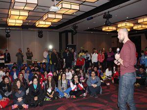 Dünyaca ünlü kayakçı Marco Buechel, genç sporculara tecrübelerini anlattı