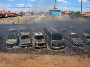 Konya'da otoparkta 70 araç kül oldu!