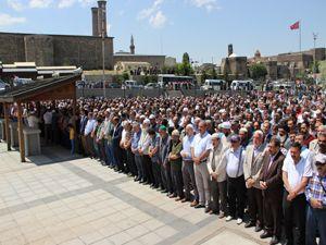 Erzurum'da şehitler için gıyabi cenaze namazı kılındı..