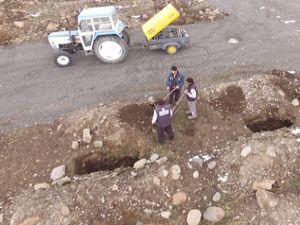 Erzurum'da kış öncesi toplu mezarlıklar kazılmaya başlandı
