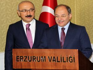 Bakan Akdağ ve Elvan, Erzurum'da