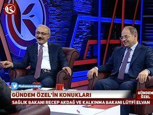 Bakan Akdağ ve Elvan Gündem Özel'in konuğu oldu