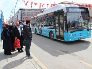 Toplu taşıma araçları bugün Erzurum'da ücretsiz