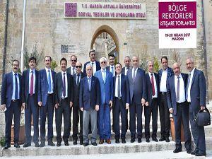 Bölge üniversiteleri rektörleri Mardin'de bir araya geldi