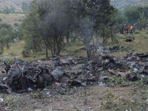 Şırnak'ta düşen helikopter enkazında incelemeler devam ediyor
