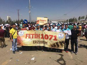 Erzurum GHSİM 500 kişi ile Malazgirt'teydi