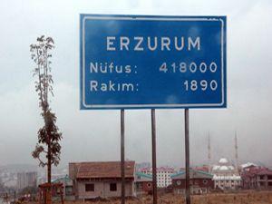 Erzurum'un yüksek kesimlerine mevsimin üçüncü karı yağdı