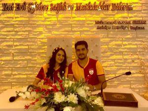 Erzurum'da nikah masasına Galatasaray formasıyla oturdular