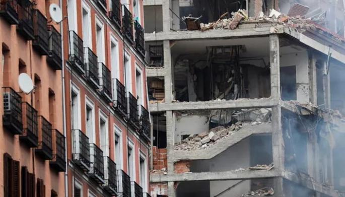 İspanya'nın başkenti Madrid'de patlama