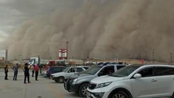 Ankara'da kum fırtınası...