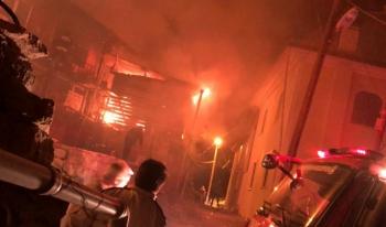 Duralar Köyü'nde korkutan yangın