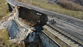 Düzce Zonguldak yolu çöktü!