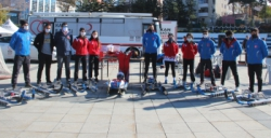Erzurum'da 7 farklı branşta kış sporları tanıtıldı