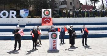 Erzurum'da 7 kişiyle 1 Mayıs açıklaması