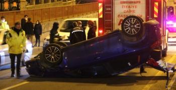 Erzurum'da feci kaza... Burnu bile kanamadı