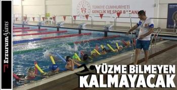 Erzurumlu çocuklar, havuzla buluşuyor