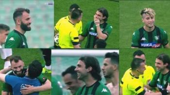 Futbolcuların görüntüsü olay oldu!