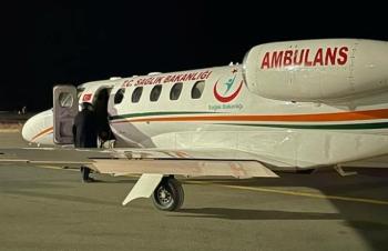 Hasta şehit babasına ambulans uçak