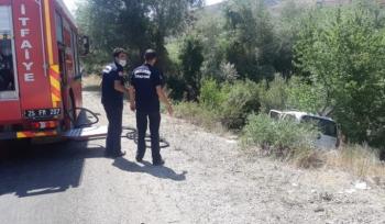 Köprüköy'de  trafik Kazası: 1 ağır yaralı