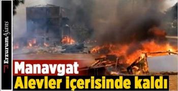 Manavgat'ta büyük orman yangını!