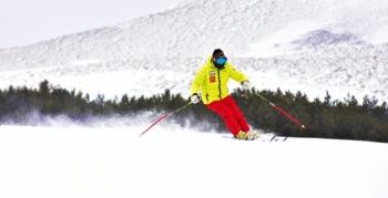 Palandöken'de kar kalınlığı 1 metreyi aştı