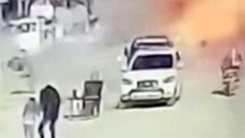 Resulayn'daki bombalı saldırı anı kamerada
