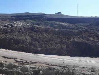 Tekman-Erzurum Palandöken yolunu heyelan vurdu