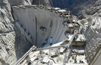 Yusufeli Barajı'nın inşaatında sona yaklaşılıyor