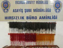 Erzurum'da tespih hırsızları yakalandı!..