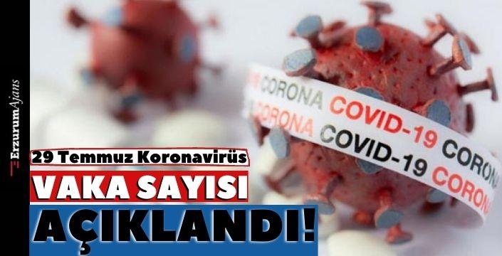 29 Temmuz koronavirüs tablosu açıklandı