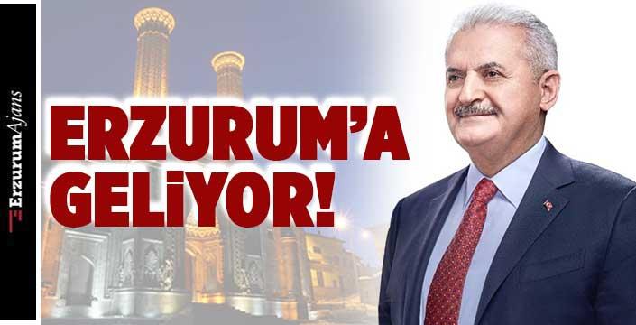 Binali Yıldırım, Erzurum'a geliyor!