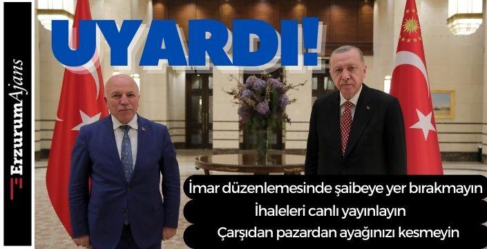 CumhurbaşkanıErdoğan, AK Partili belediye başkanlarını uyardı