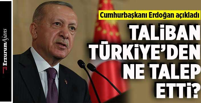 Erdoğan Taliban'ın yaptığı teklifi açıkladı