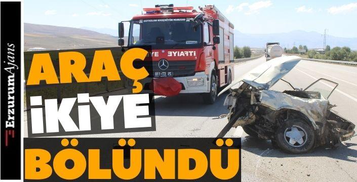 Erzurum'da korkutan kaza