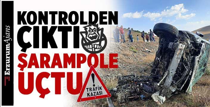 Erzurum'da feci kaza:3 yaralı