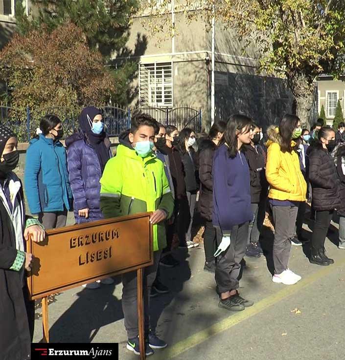 Erzurum'da üşüten 29 Ekim provası