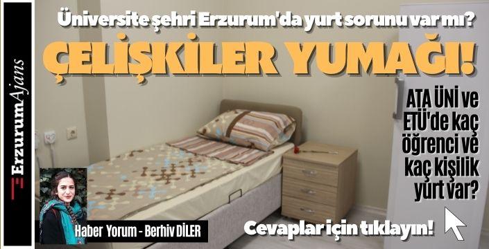 Erzurum'da yurt sorun mu?
