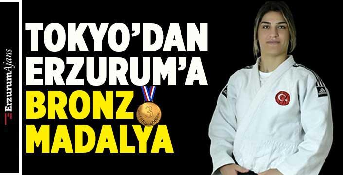 Erzurum'un kızı, gururlandırdı