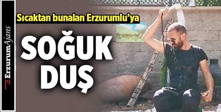 Erzurumlu fenomenden, kavurucu sıcağa ilginç çözüm